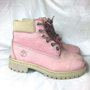 Timberland Genuine Leather Girls Boots Size 12.5